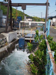 小水力発電「彦電」(立梅用水)