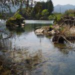 立梅用水の三代目井堰跡地(櫛田川)