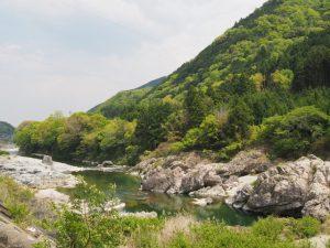 国道166号(千歳橋〜深野大橋)から望む櫛田川