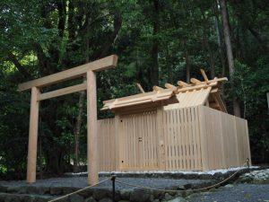 御造替を終えていた江神社(皇大神宮 摂社)