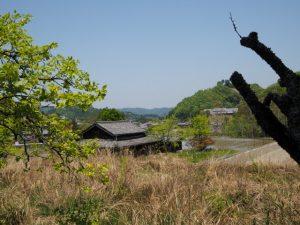 立梅用水(勢和中学校〜古江隧道入口)からの風景