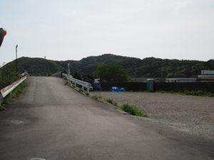 太江寺藤まつりの臨時駐車場(日の出橋左岸側)