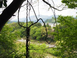 立梅用水、古江隧道に代わられた古水路跡からの眺望