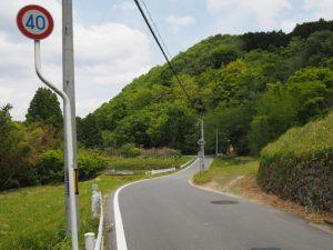 県道421号、丹生方向へ