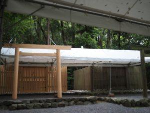 御遷座の準備、江神社(皇大神宮 摂社)