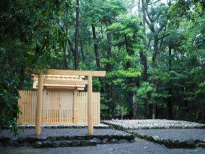 御遷座を終え古殿が姿を消した江神社(皇大神宮 摂社)