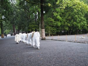 風日祈祭、参進(外宮 表参道)