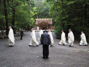 風日祈祭、多賀宮、土宮への参進(外宮)