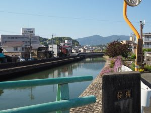 桜橋(勢田川)からの遠望