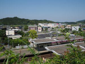 近鉄五十鈴川駅付近の遠望