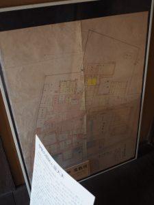 旧御師龍太夫邸の屋敷図(伊勢和紙館)