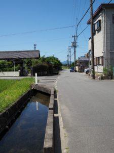 櫛田橋(櫛田川)から水路を辿って