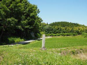 「伊勢猿楽三座の内 青苧太夫屋敷跡」付近(松阪市阿波曽町)