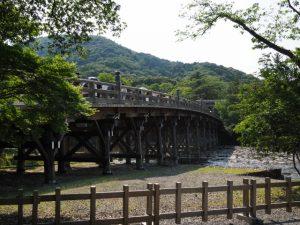 東詰付近から望む宇治橋