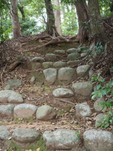 愛宕山への参(山)道(丹生山 神宮寺)