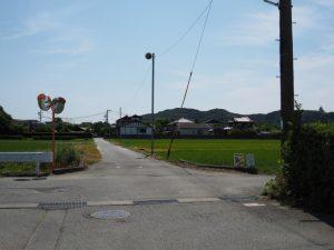御塩道との交差(御塩浜〜伊勢市二見生涯学習センター)