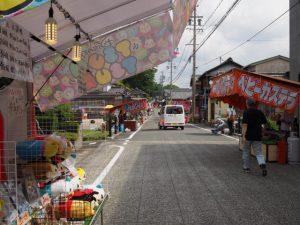 御田植祭当日、伊雜宮前の道路
