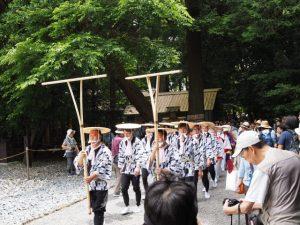 参拝:伊雜宮 御田植祭