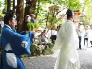 御料田への参進:伊雜宮 御田植祭