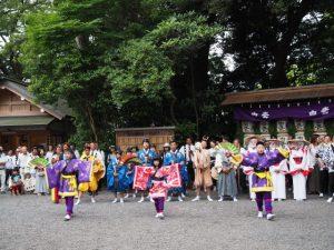 千秋楽の仕舞:伊雜宮 御田植祭