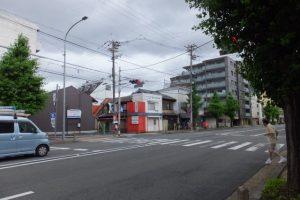 市比賣神社の交差点(河原町通)