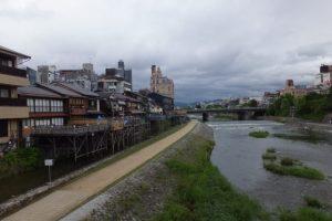 団栗橋から望む鴨川の上流方向