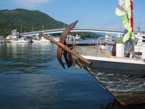菅島漁港にて