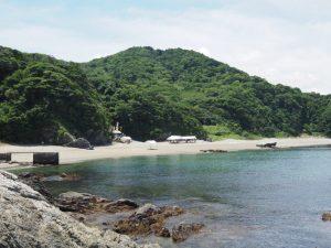 しろんご浜の遠望(菅鳥羽市菅島町)