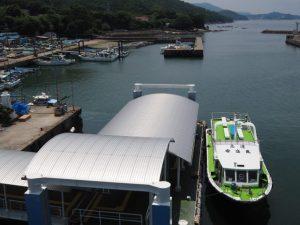 沖ノ島への橋からの眺望(菅島)