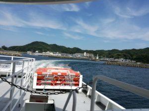 菅島からの出航