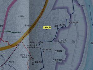 中村町の史跡と変遷図よりの抜粋