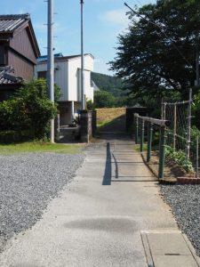 旧参宮道、五十鈴川の河川敷(側川原)付近