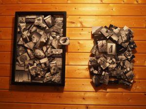 自宅玄関ギャラリーの展示第一作と第二作