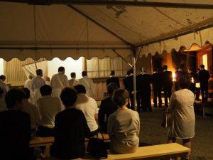 豊川茜稲荷神社の仮殿遷座祭(伊勢市豊川町)
