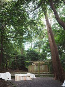 御造替が開始された鴨下神社(皇大神宮末社)