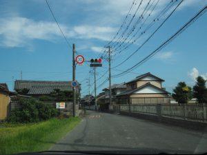 三重県立美術館からgallery0369(津市美里町三郷)への途中