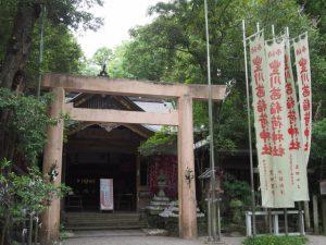 7月21日に仮殿御遷座を終えた豊川茜稲荷神社および茜牛天神(茜社)