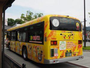 「ポケモン電気バス」(伊勢市駅前にて)