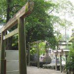 しばらくしたら建て替えられる三基の鳥居、須原大社(伊勢市一之木)