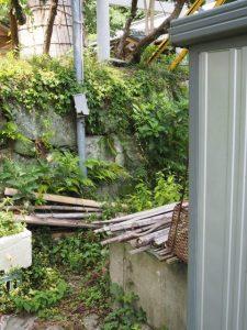 九鬼千本杉の残る一本の近くにある井戸、賀多神社(鳥羽市鳥羽)