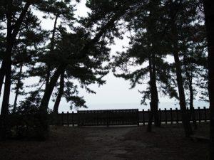 二見浦海岸側の門、御塩殿神社(皇大神宮所管社)