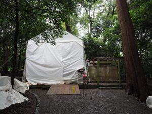 御造替が進められる鴨下神社(皇大神宮 末社)