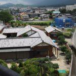 五十鈴ケ丘高架橋から望んだ本誓寺とその東方向