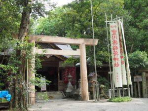 修繕中の豊川茜稲荷神社(茜社)