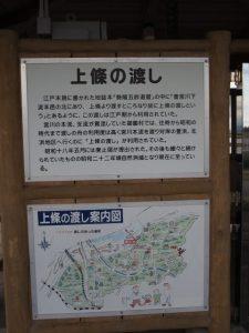 上條の渡しの案内(宮川)