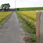 申儀館跡の石標(伊勢市御薗町小林)