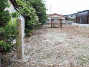 内組同心屋敷跡の石標(伊勢市御薗町小林)
