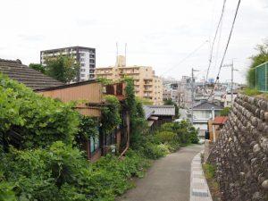 簀子橋から妙見堂への坂道からの風景