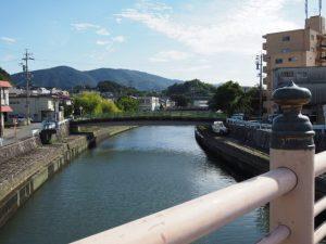 錦水橋から望む簀子橋(勢田川)