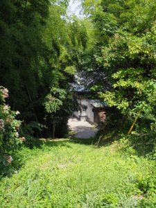 隠岡山寿厳院への坂道入口付近
